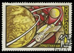 stamp, macro - stock photo