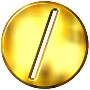 3D Golden Framed Division Symbol Stock Illustration