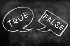 Speech bubbles for true and false Stock Photos