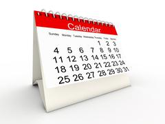3d calendar Stock Illustration