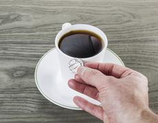 Coffee for a quarter - the old days Stock Photos