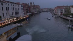 Timelapse - Venice Grand Canal Dusk Stock Footage