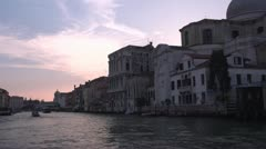 On the Grand Canal in Venice Stock Footage