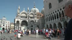 Tourists in Venice - stock footage
