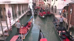 Gondola Loading Venice Stock Footage