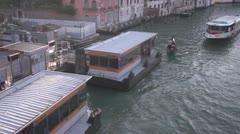 Vaporetto Loading Venice - Timelapse Stock Footage