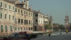Quiet Venetian Canal Stock Footage