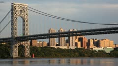 George Washington Bridge in New York City Stock Video Stock Footage