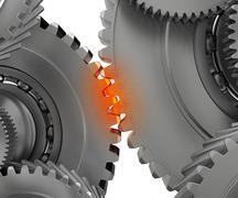 overloaded mechanism - stock illustration