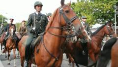 Cavalry in Holland on Prinsjesdag Stock Footage