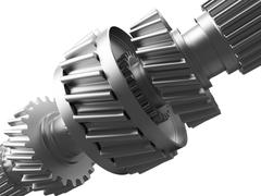 Stock Illustration of cogs on a gearwheel