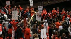 Teachers Strike Chicago 3 Stock Footage