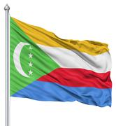 Stock Illustration of waving flag of comoros
