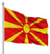 Stock Illustration of waving flag of macedonia