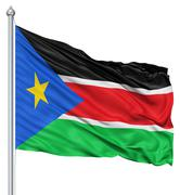 Stock Illustration of waving flag of south sudan