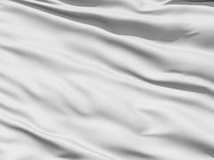 rippled white fabric background - stock illustration