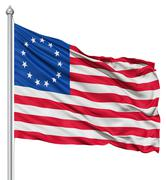 Stock Illustration of waving flag of betsy ross