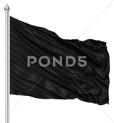 Stock Illustration of black blank flag