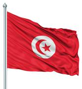 Stock Illustration of waving flag of tunisia