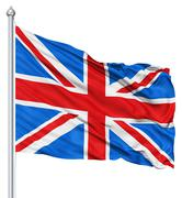 flag united kingdom of great britain - stock illustration