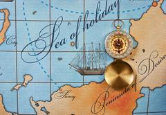 Kompassi kartalla Kuvituskuvat