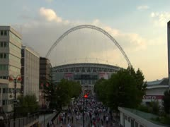 Wembley Evening Stock Footage