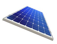 sun-power plant isolated - stock illustration