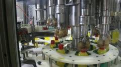 Liquid Detergent, Bottling Stock Footage