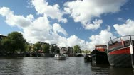 Stock Video Footage of Amsterdam Amstel river