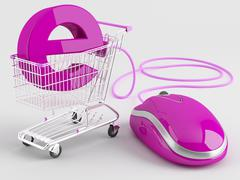 Internet shopping Stock Illustration