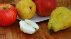 Healthy apple snack to eat Stock Footage