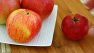 Peeling an apple Stock Footage