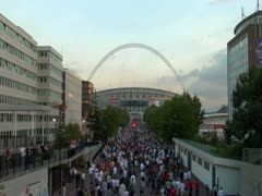 Wembley Fans Stock Footage