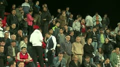 Football  or Soccer  Fans 25 fps  - stock footage