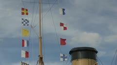 Nautical Flags with Stack Stock Footage