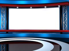 Stock Illustration of 3d studio tv virtual set