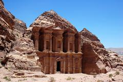 treasury at petra,jordan - stock photo