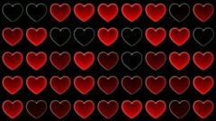 Mosaic heart Stock Footage