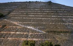 Mexico hispanic contour ditches oaxaca beauty Stock Photos