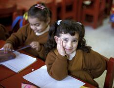 Egypt good shepherd school minya people girl Stock Photos