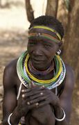 South sudan woman female of nanyanncor people Stock Photos