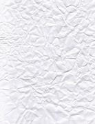 texture of crumpled white paper - stock photo
