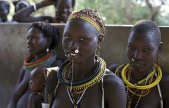 South sudan toposa village near people person Stock Photos
