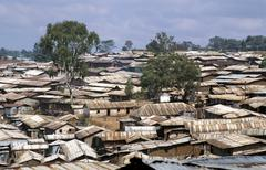 Kenya kibera slum nairobi country developing Stock Photos