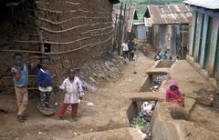 Kenya kibera slum nairobi people person country Stock Photos