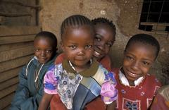 Kenya children kids of kibera slum nairobi 6250 Stock Photos