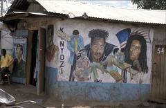 Kenya music shop kibera slum nairobi people 6252 Stock Photos
