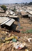 Kenya kibera slum nairobi people person garbage Stock Photos
