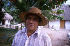 Mexico hispanic coop member at tourist camp fcy Stock Photos