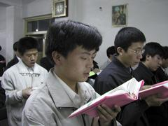 China shenyang catholic seminary love people men Stock Photos
